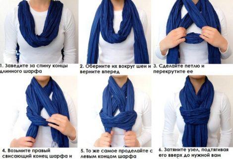 Тысяча способов завязать шарф, платок, палантин